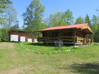 Log Home and Cabin 29+ acres with creek for sale in Clearwater, British Columbia, Canada